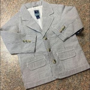 Old Navy white navy striped suit jacket NWT Sz 3t